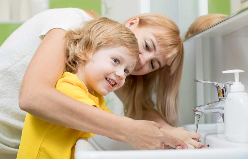 Barn - herpes, munsår och smittorisk